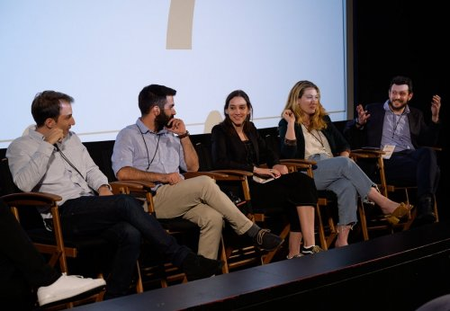 IPDF VR Panel Moderator-Jeff Stockwell-Stelios Aletraris, Ioannis Bekiaris, Alexia Kyriakopoulos, Alethea Avramis, Vangelis Lympouridis