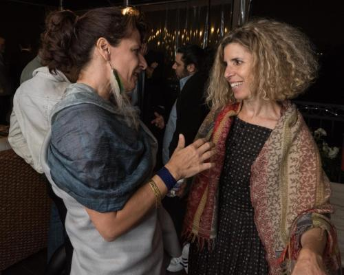 (From left) Filmmaker Carina Tautu with Co-Founder Ersi Danou