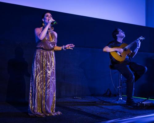 Singer Annet Artani and guitarist Dan Sistos