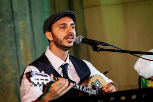 Dimitris Mann of The Rebetiko Trio