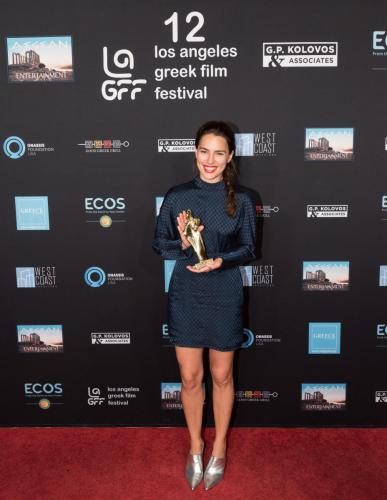 Melia Kreiling with the Orpheus Award for THE LAST NOTE