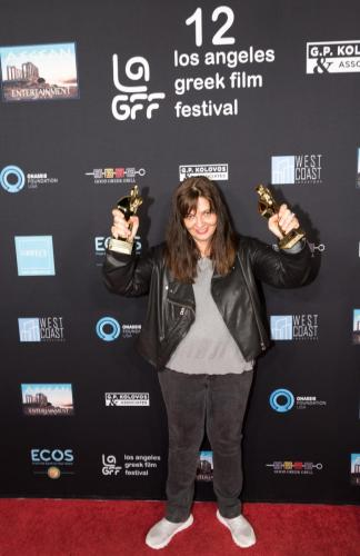 Dora Masklavanou with Orpheus Awards for POLYXENI