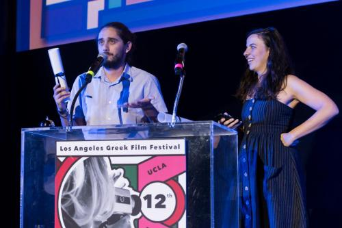 IPDF Filmmaker Nasos Gatzoulis receiving Honorable Mention for TWO RACCOONS